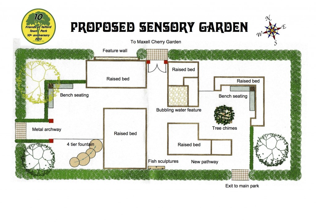 Sensory garden update friends of telford town park for Sensory garden designs